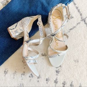 Sam Edelman Stacie Snake Strappy Sandals